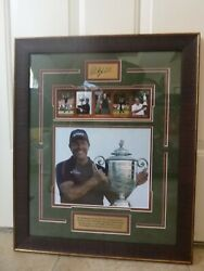 Pga Phil Mickelson Poster Wall Hanging Collectible Autographed Signature Plate
