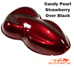 Candy Pearl Strawberry Basecoat Gallon Kit Over Black Base + High Solids Clear