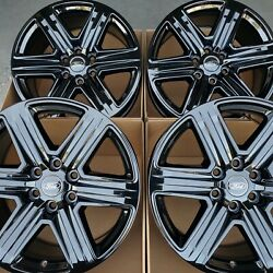 20 Ford F150 Fx4 Expedition Limited Oem Factory Stock Wheels Rims Gloss Black