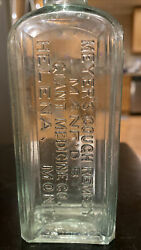 Rare 1890's Old Helena, Montana / Meyer's Cough Remedy Bottle Giant Medicine Co