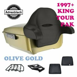 Olive Gold King Tour Pack Trunk Black Hinges And Latch Fit Touring