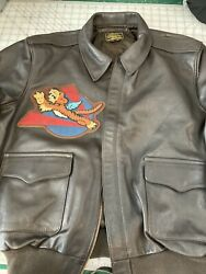 Gibson And Barnes A2 Pilot Jacket Avg Flying Tigers Blood Chit