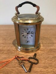 Miniature L'epee Carriage Clock With Alarm - Absolutely Stunning Clock