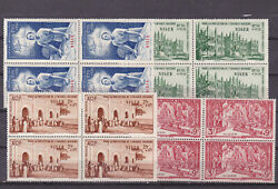 Niger 1942 Two Sets Block Of Four,mnh One Of Each Mh  S1993
