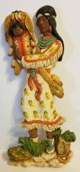 Vintage 1979 Universal Statuary Corp Indian Woman W/ Papoose Wall Hanging