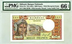 Djibouti 1000 Francs Nd 1991 Banque Nationale Pick 37 E Lucky Money Value 280