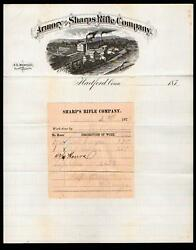 1877 Bridgeport Ct - Armory Of Sharps Rifle Co - Guns - Weapons Letter Head