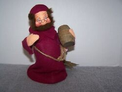 Annalee Doll And03997 7 Monk W/cask Tree Topper Figurine 7907 Vintage W Tags