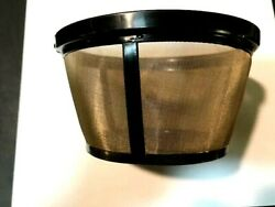 Goldtone Reusable 8-12 Cup Basket Coffee Filter For Mr Coffee Machine And Makers