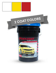 White Yellow And Red Epoxy Floor Coating Kit- 30 Gallon 5000 Sq. Ft. At 9.7 Mils