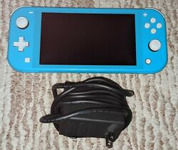 Nintendo Switch Lite Handheld Video Game Console Turquoise Excellent Condition