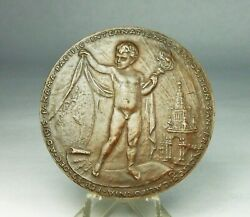 D Orig 1915 French Ppie Bronze Medal Panama Pacific Intl Exposition Worlds Fair