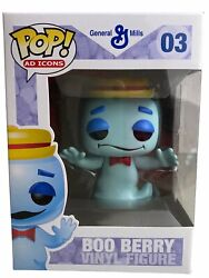 Funko Pop General Mills Boo Berry 03 Vaulted Retired Large Capital Letters Font