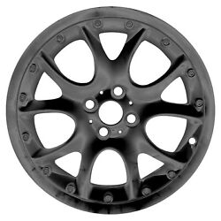 Oem Remanufactured 17x7 Alloy Wheel Rim Black Painted With Flange Cut - 59571