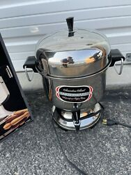New Vintage Farberware Stainless Steel Automatic 12-36 Cup Coffee Urn With Box