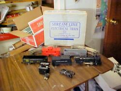 Vintage Marx Steam Type Electric Train Set Model 4040 Engine Cars Track In Box
