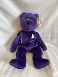 Ty Beanie Babies Princess Diana Bear Vintage 1997 With Tag And Tag Protector