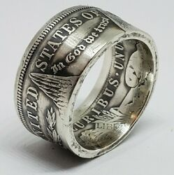 Real Silver Dollar Coin Ring Size 11