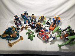 Fisher Price Rescue Heroes Lot Of People And Vehicles Space Monkey Snowmobile