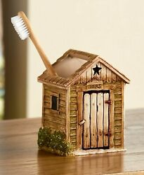 Outhouse Rustic Country Bathroom Decor - Toothbrush Holder