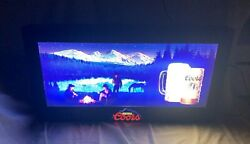 Large Vintage 1980s Coors Electric Motion Bar / Pub Sign Very Rare Euc Working