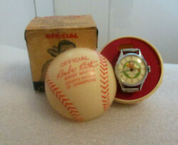Babe Ruth  1948 Exacta Watch With Plastic Ball And Box   Great Display