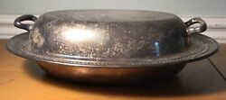 1883 F.b.p Rogers Silver Co 1205 Silver Plated Serving Platter 12andrdquo Wide 4andrdquo Tall