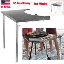 """Us Foldable Grill Workbench Fits18"""" Weber Charcoal Grills Weber Grill Table Bbq"""