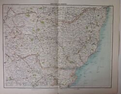Ipswich - Antique Map C1898 Bartholomew Royal Atlas Of England And Wales Suffolk