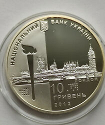 Silver Coin Of The Xxx Olympic Games Uah 10 - Silver Proof Ag 925