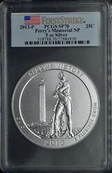 2013-p Perryand039s Memorial Np Pcgs Sp70 5oz Silver 25c Firststrike