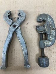 Vintage Dubey Cutter, Ridgid No15 Pipe Cutters