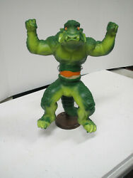 Mattel Krusher Growing Monster Action Figure Stretch Armstrong 1979 W Stand