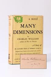Charles Williams - Many Dimensions - Gollancz 1931 Signed First Edition.