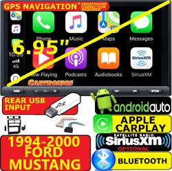 1994-2000 Ford Mustang Carplay Android Auto Bluetooth Opt. Siriusxm Car Stereo