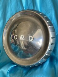 Vintage Ford Hub Cap With Ding 9 And 5/8 Inches