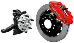 Wilwood Front Disc Brake Kit And Drop Spindles63-70 Chevy C10gmc C1513red