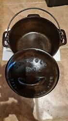 Rare Griswold Tite-top Large Block 6 Dutch Oven 2605a Bottom And 2606a Lid