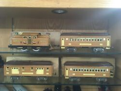 Lionel Standard Scale Brown Baby State Set W/ 309 310 312 Passenger Cars Exob