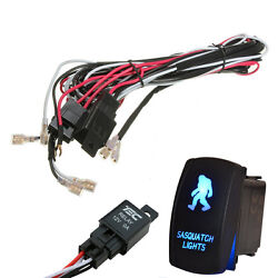 40a Laser Rocker Switch Relay Fuse Wiring Harness Kit Led Light Big Foot