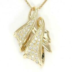 Jewelry 18k Yellow Gold Necklace Diamond About11.0g Free Shipping Used