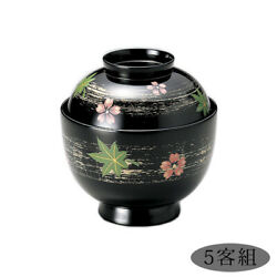 Small Soup Bowl With Lid Bowls Made Of Wood In Japan Black Cover Customer Sets