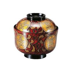Made Of Wood This Lacquering Hon-kinma Makie Soup Bowl Wooden Hisago Tame Inside