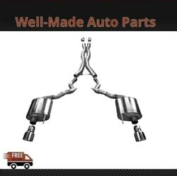 Corsa 304 Ss Cat-back Exhaust System W/split Rear Exit For 15-17 Mustang 14332
