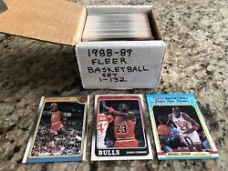 1988-89 Fleer Basketball Complete Set W/stickers Pippen/rodman Rc And 3 Jordanand039s