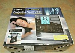 NEW Shift3 Wireless Multi Channel Projection Weather Station Dual Alarm Clock