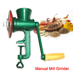 Manual Mill Grinder Cereal Machine Wheat Corn Cast-iron And Wood Household