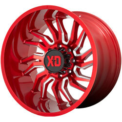 4-xd Series Xd858 Tension 22x12 8x170 -44mm Red/milled Wheels Rims 22 Inch