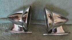 1960s Vintage Talbot Style Chrome Bullet Mirrors Set Of 2 Used Patina