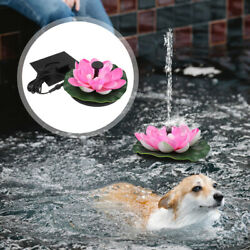 1set Floating Water Pump Lotus Fountain Solar Power Fountain For Pond